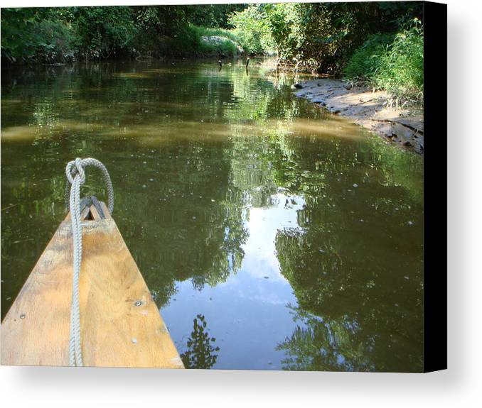 Canoe Canvas Print featuring the photograph Right There With Me ... by PJ Cloud