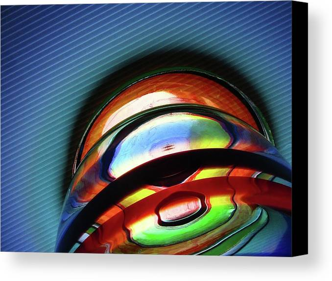 Abstract Canvas Print featuring the photograph Rings # 7 by Paolo Staccioli
