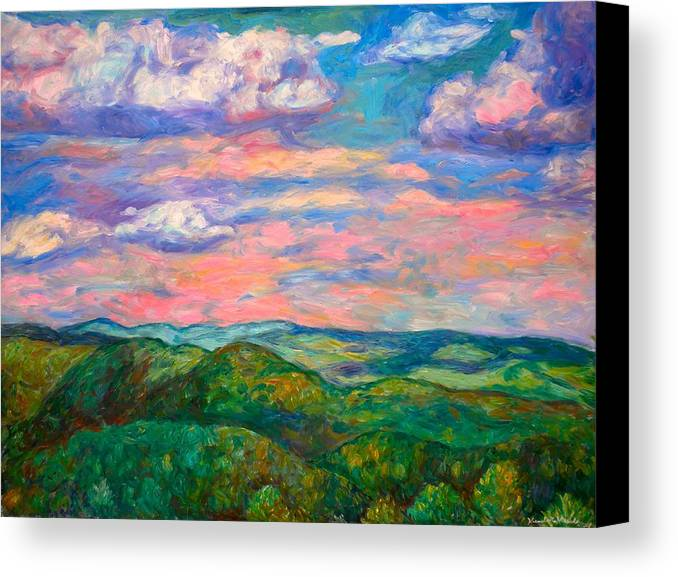 Landscape Paintings Canvas Print featuring the painting Rock Castle Gorge by Kendall Kessler