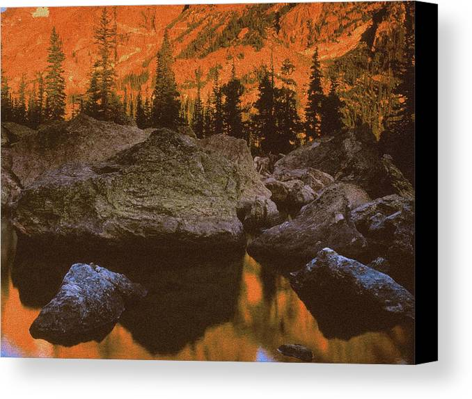 Landscape Canvas Print featuring the photograph Rocky Mountain Sunrise by Vicky Brago-Mitchell