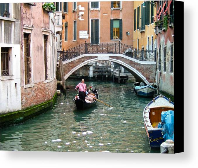 Venice Canvas Print featuring the photograph Romantic Journey by Carl Jackson