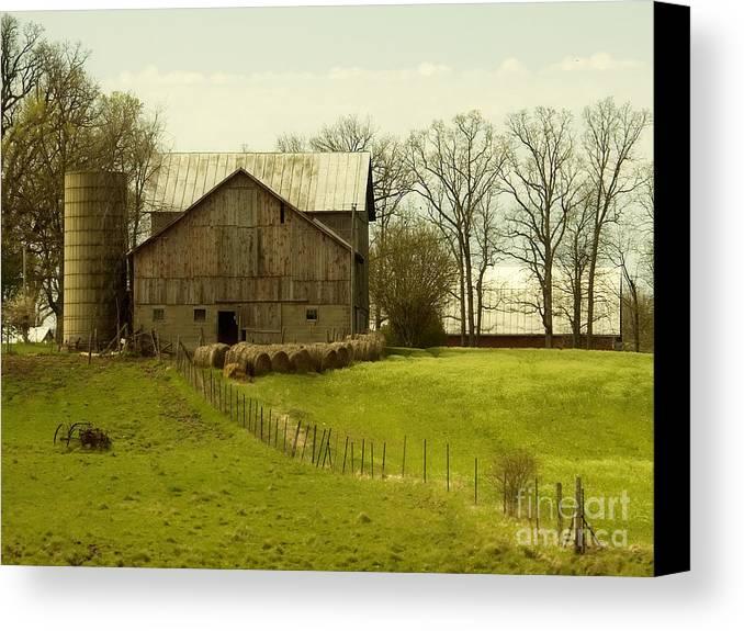 Farms Canvas Print featuring the photograph Rural Americana-01 by Neil Doren