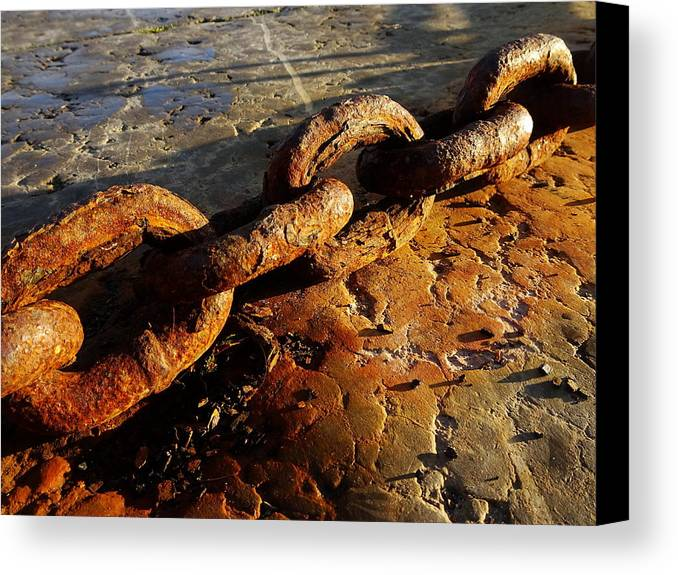 Rust Canvas Print featuring the photograph Rusty Chain by Robert Navorol