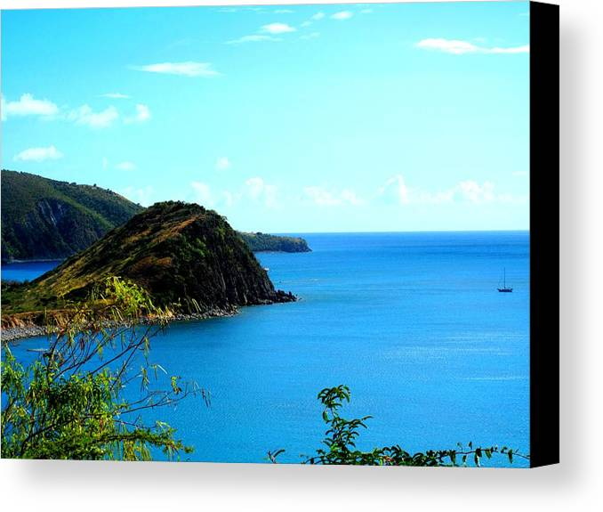 St Kitts Canvas Print featuring the photograph Safe Harbor by Ian MacDonald