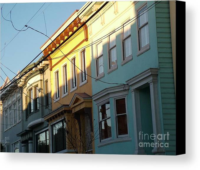 Architecture Canvas Print featuring the photograph San Fran Light by John Loyd Rushing