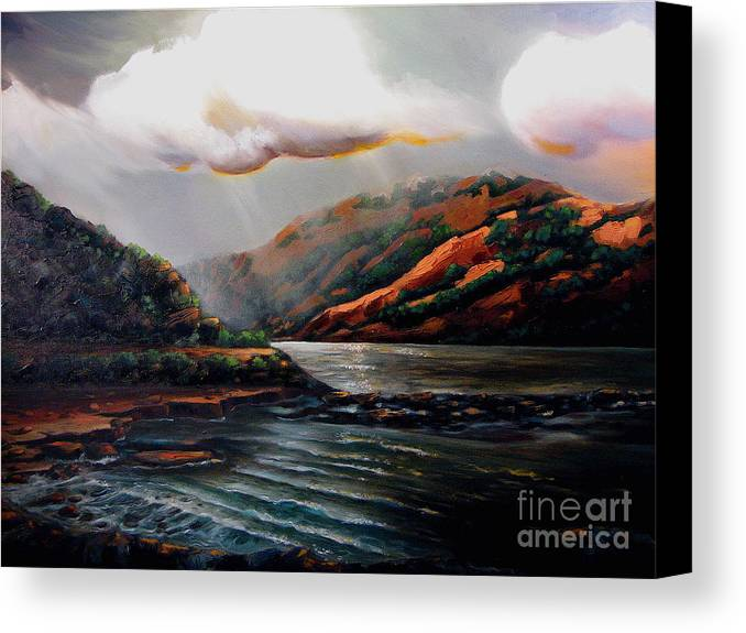 Landscape Canvas Print featuring the painting Scotland by Patricia Reed