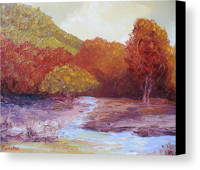 Landscape Canvas Print featuring the painting Season Change by Belinda Consten
