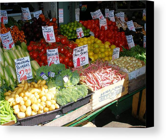 Farmers Market Canvas Print featuring the photograph Seattle Farmers Market by Candace Garcia