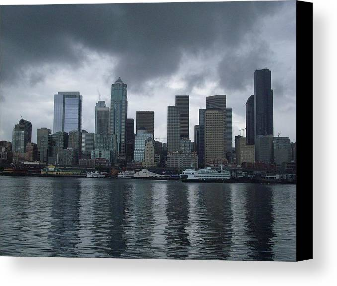 Seattle Canvas Print featuring the photograph Seattle by TL Randleman
