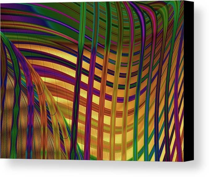 Fractal Canvas Print featuring the digital art Seaweed by Vicky Brago-Mitchell