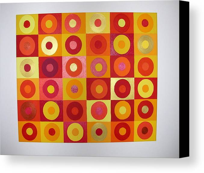 Orange Canvas Print featuring the painting Seeing Red by Gay Dallek