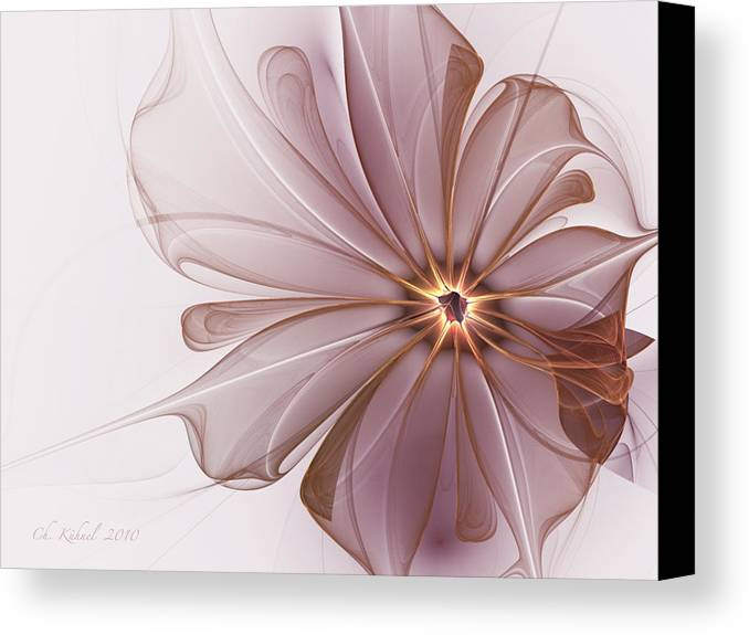 Abstract Canvas Print featuring the digital art Sensitivity by Christine Kuehnel