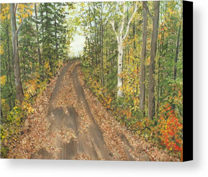 Trees Canvas Print featuring the painting September by Bev Neely