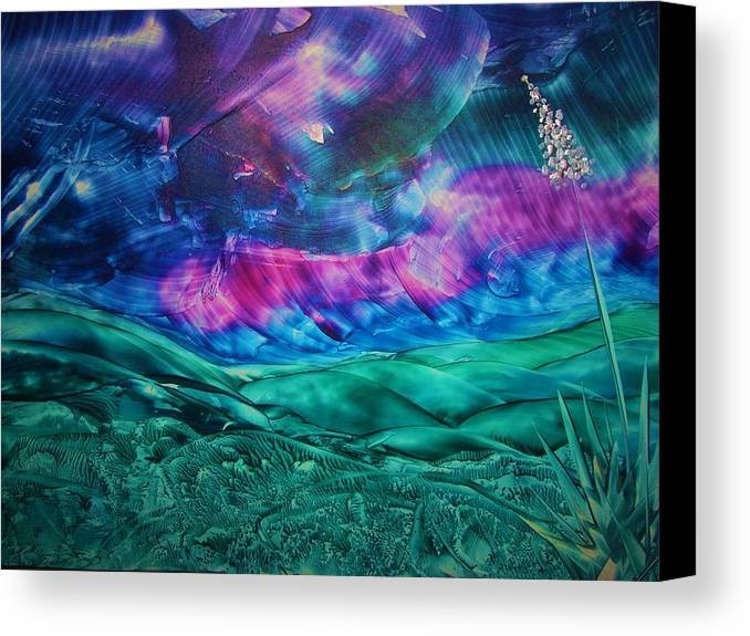 Desert Canvas Print featuring the print Sierra Vista by Melinda Etzold