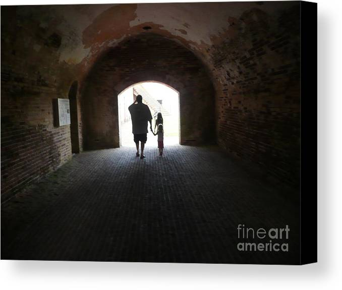 Canvas Print featuring the photograph Silhouettes by Barb Montanye Meseroll