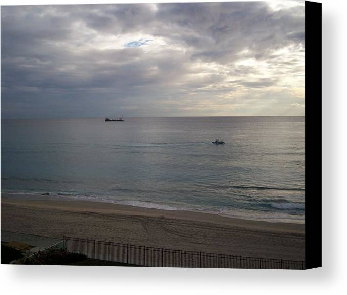 Siklver Canvas Print featuring the photograph Silver Morning by Karen Thompson