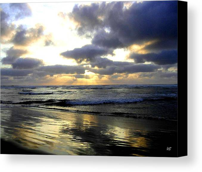Sunset Canvas Print featuring the photograph Silver Shores by Will Borden