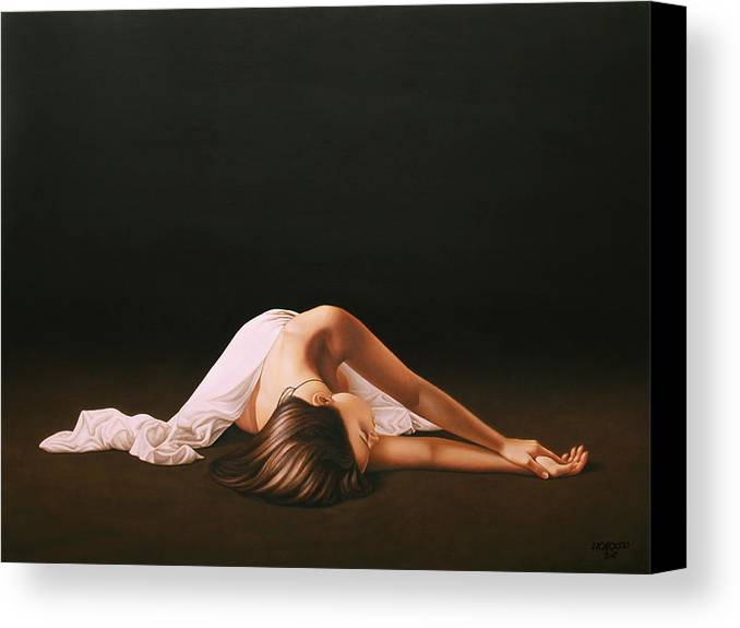 Nude Canvas Print featuring the painting Sleeping Beauty by Horacio Cardozo