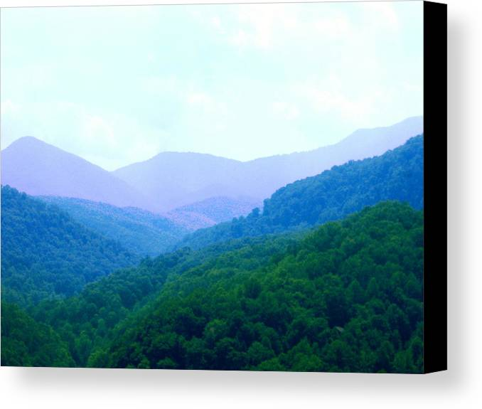 Mountains Canvas Print featuring the photograph Smokies In Spring by Utopia Concepts