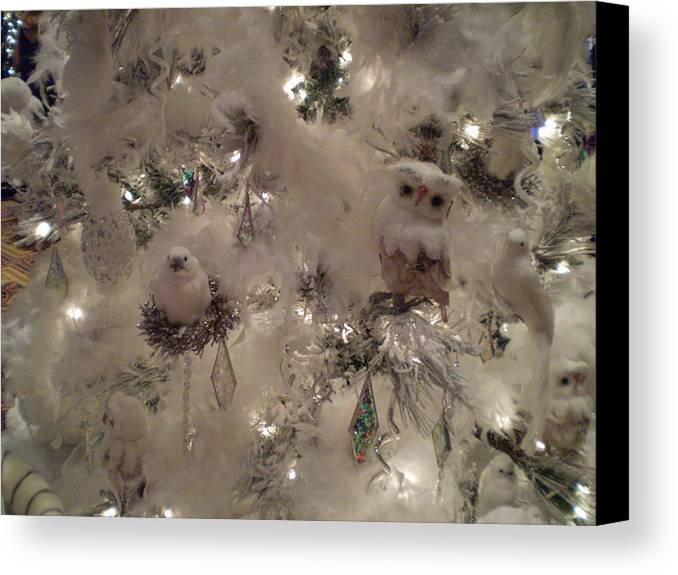 Christmas Tree Canvas Print featuring the photograph Snow Ball Gala by Ricky Kendall