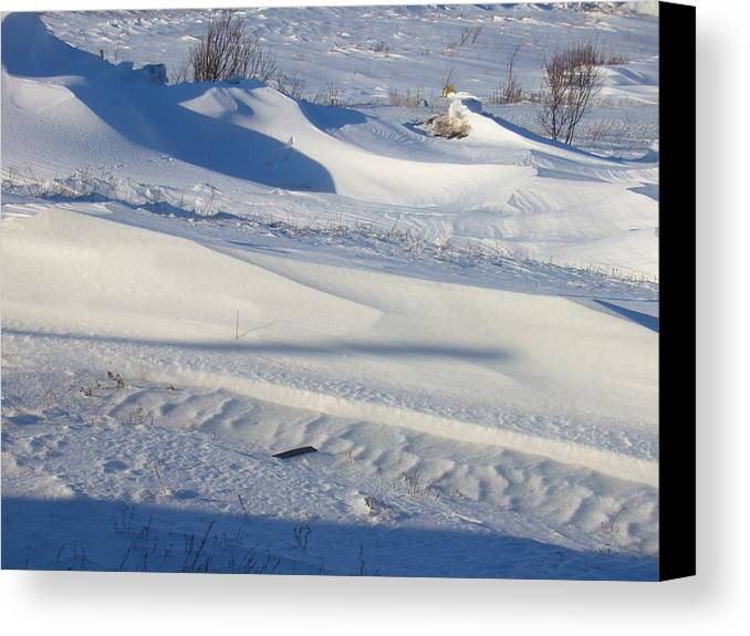 Winter Canvas Print featuring the photograph Snow Drift by Sharon Stacey