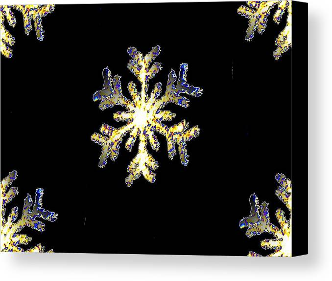 Snow Canvas Print featuring the photograph Snowflakes by Tim Allen