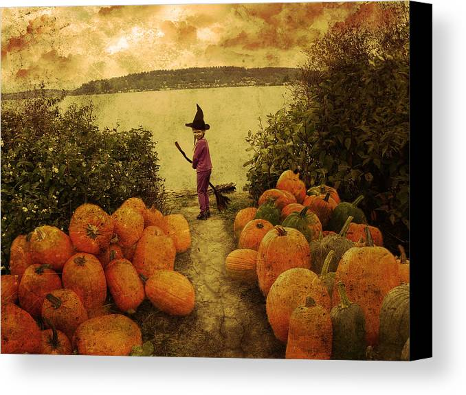 Fantazy Canvas Print featuring the photograph Soon Halloween by Anastasia Michaels