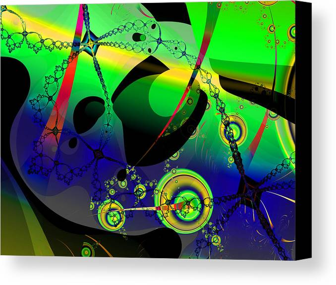 Fractal Canvas Print featuring the digital art Space Carnival by Frederic Durville