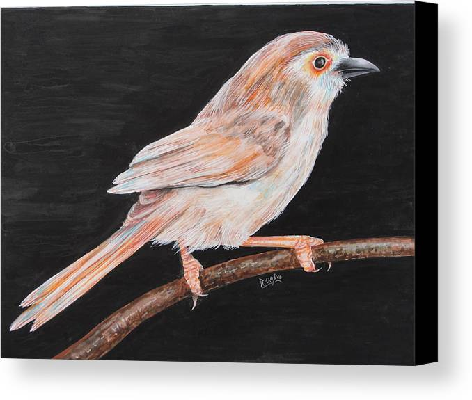 Bird Canvas Print featuring the painting Sparrow by Rajesh Chopra