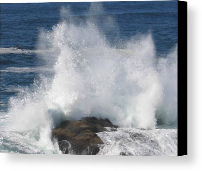 Canvas Print featuring the digital art Splash by Barb Morton