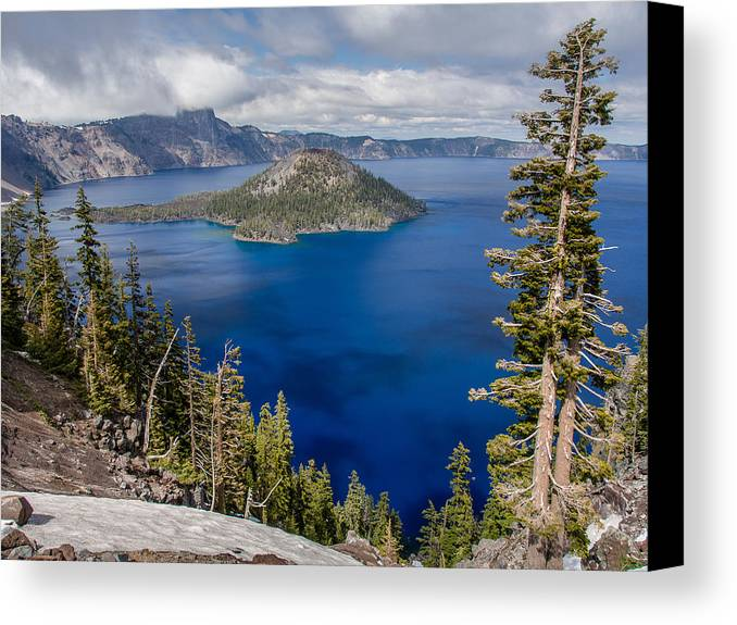 Crater Lake Canvas Print featuring the photograph Spring Afternoon From Discovery Point by Greg Nyquist
