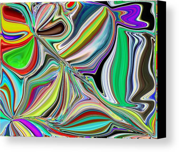 Abstract Canvas Print featuring the digital art Spring Kaleidoscope by Tim Allen