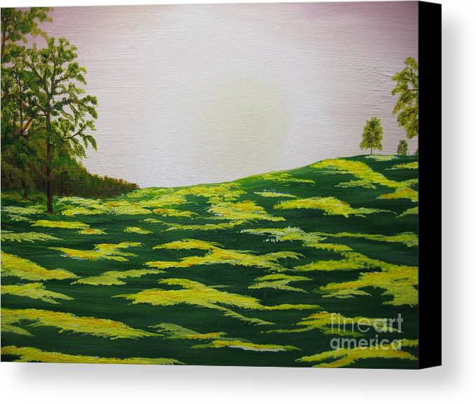 Trees Canvas Print featuring the painting Spring Morning by Todd Androy