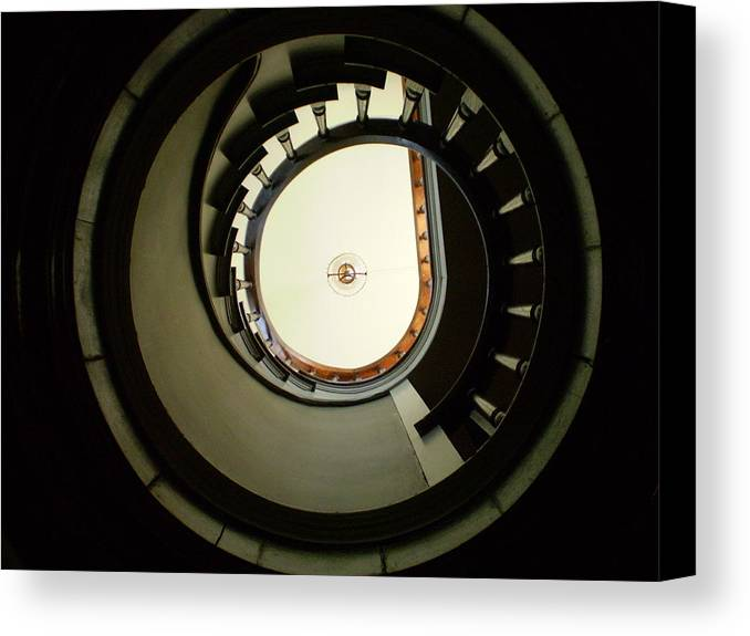 Staircase Canvas Print featuring the photograph Staircase At Riverview by Utopia Concepts