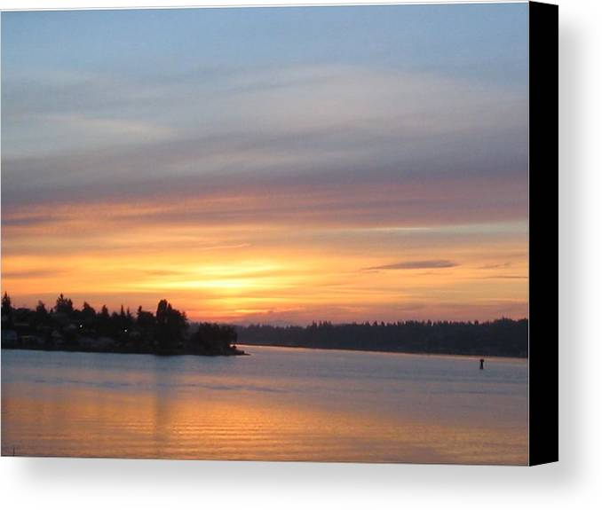 Sunrise Canvas Print featuring the photograph Still Morning Sunrise by Valerie Josi
