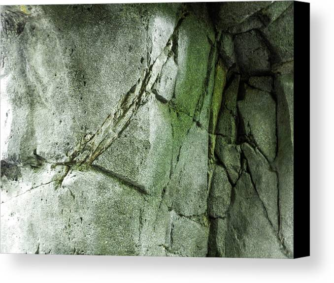Canvas Print featuring the photograph Stone/crack by Alfaisal Mishkhas