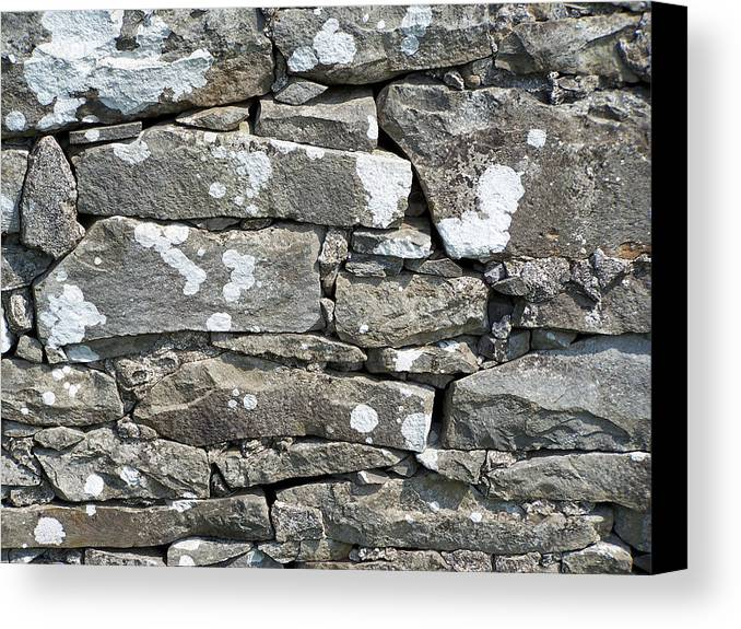 Irish Canvas Print featuring the photograph Stone Wall Detail Doolin Ireland by Teresa Mucha