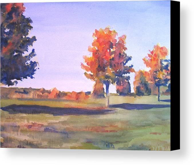 Landscape Canvas Print featuring the painting Storm King Afternoon by Joyce Kanyuk