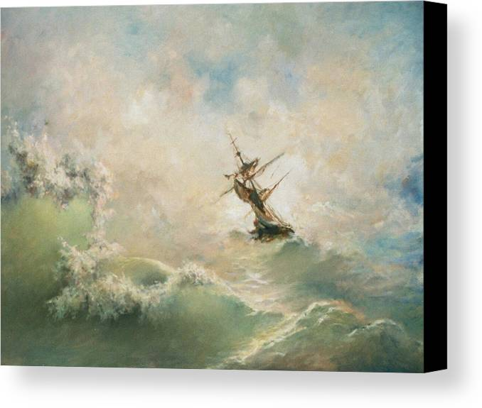 Storm Canvas Print featuring the painting Storm by Tigran Ghulyan