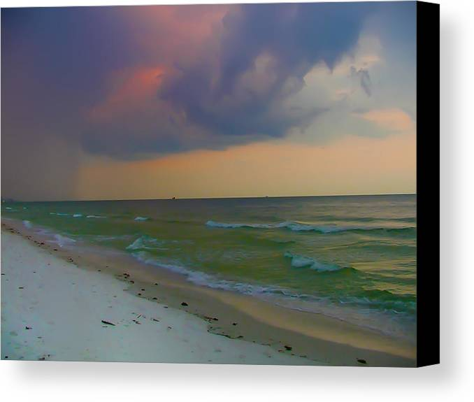 Storm Canvas Print featuring the photograph Storm Warning by Bill Cannon
