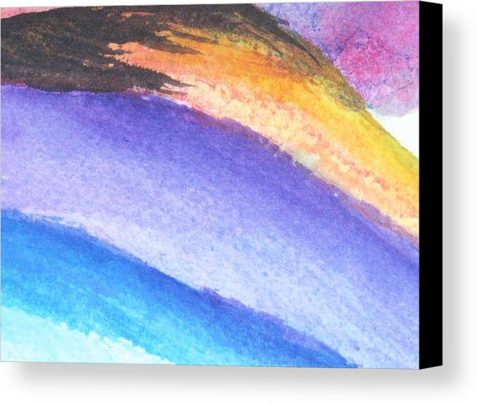 Abstract Canvas Print featuring the painting Streaks Of Light by Trilby Cole