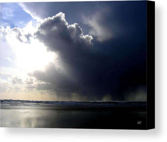 Squall Canvas Print featuring the photograph Sudden Squall by Will Borden