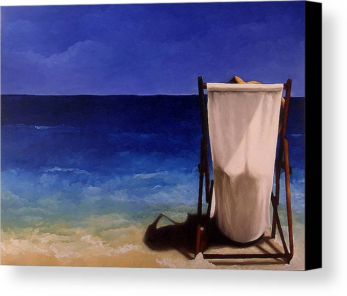 Seascape Canvas Print featuring the painting Summer Days by Trisha Lambi