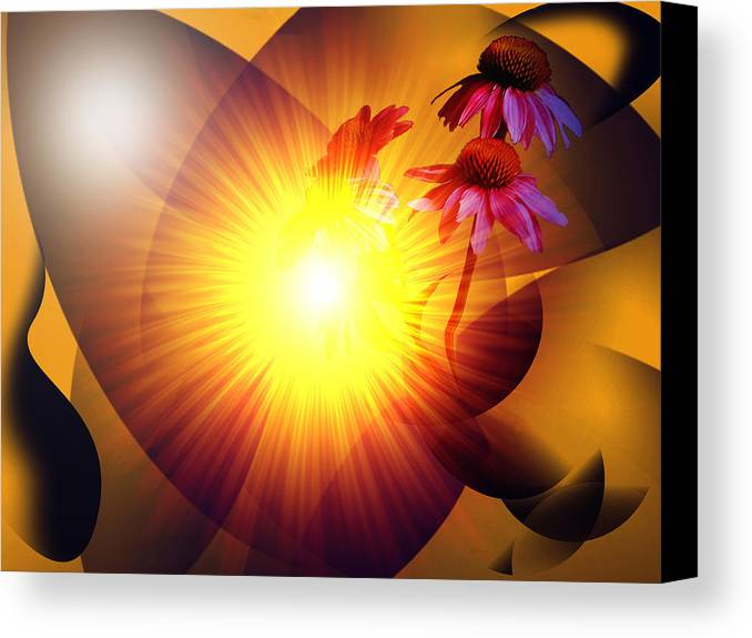Solstice Canvas Print featuring the digital art Summer Solstice II by Patricia Motley