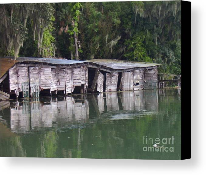Nature Canvas Print featuring the photograph Sunken by Stephanie Richards