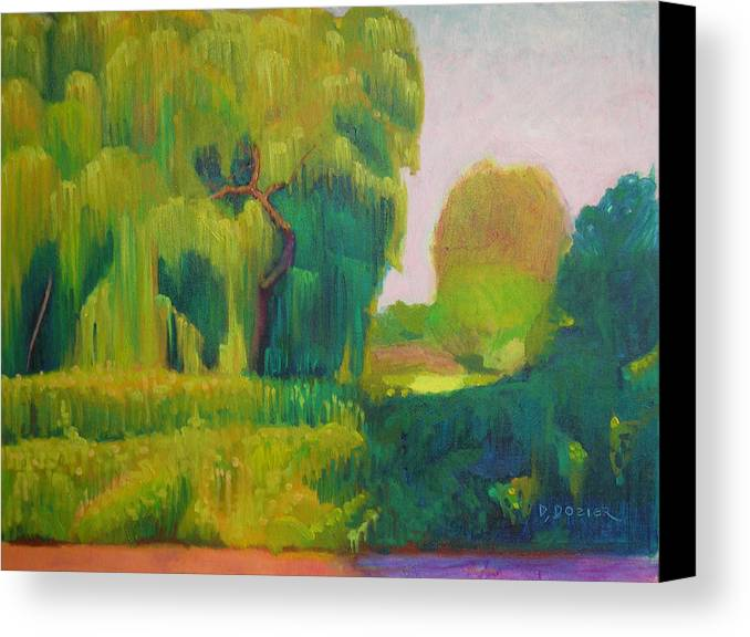 Landscape Canvas Print featuring the painting Sunny Day Indian Boundary Park by David Dozier