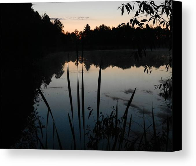 Sunrise Canvas Print featuring the photograph Sunrise On Pond by Dennis Leatherman