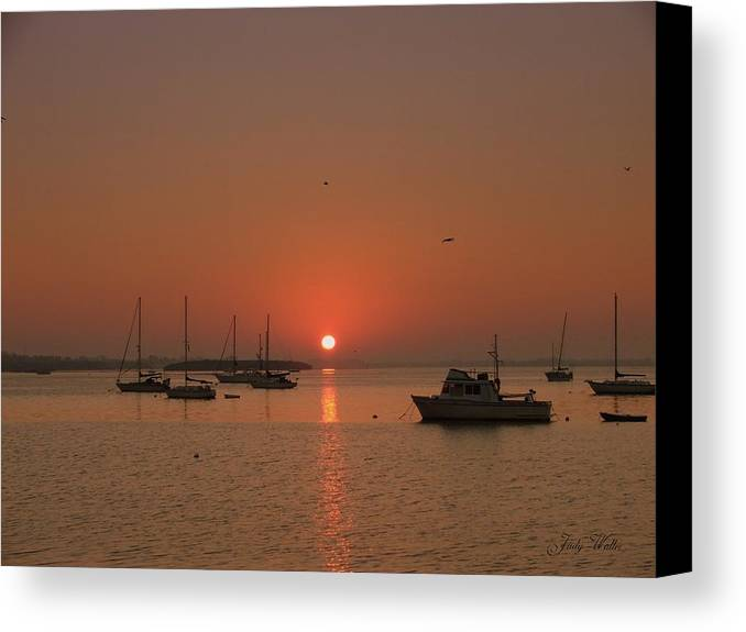 Sunrising Canvas Print featuring the photograph Sunrising by Judy Waller