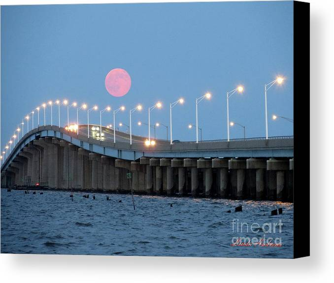 Moon Canvas Print featuring the photograph Super Moon by Robert Henne