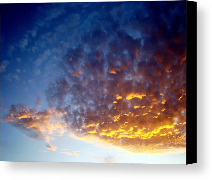 Clouds Canvas Print featuring the photograph Supernatural Cloud Three by Ana Villaronga